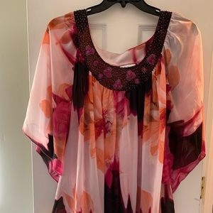 Pullover Sheer Tunic